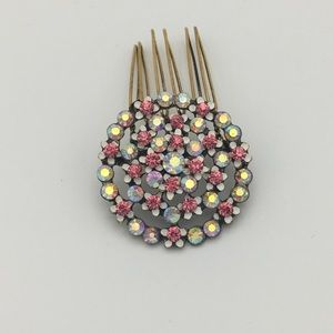 Vintage 1950's hair comb with Swarovski crystals